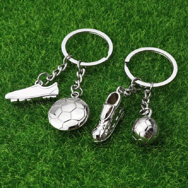 2 PCS Creative Football Gift Pendant Metal Football Shoe Keychain, Style: Football Shoes 389