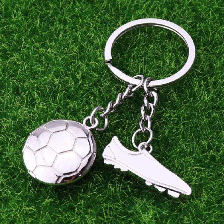 2 PCS Creative Football Gift Pendant Metal Football Shoe Keychain, Style: Football Shoes 306