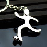2 PCS Creative Football Gift Pendant Metal Football Shoe Keychain, Style: Athletes