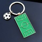 2 PCS Creative Football Gift Pendant Metal Football Shoe Keychain, Style: Football Stadiums