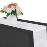 10 PCS Satin Tablecloth Table Decoration for Home Party Wedding Christmas Decoration (White)