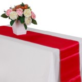 10 PCS Satin Tablecloth Table Decoration for Home Party Wedding Christmas Decoration (Red)