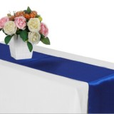 10 PCS Satin Tablecloth Table Decoration for Home Party Wedding Christmas Decoration (Royal Blue)