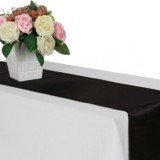 10 PCS Satin Tablecloth Table Decoration for Home Party Wedding Christmas Decoration (Black)