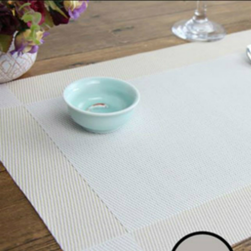 10 PCS Placemat Fashion PVC Dining Table Mat Fisc Pads Bowl Pad Coasters Waterproof Table Cloth Pad Slip-resistant Pad (White)
