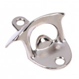 2 PCS Vintage Bottle Opener Wall Mounted Wine Beer Opener (Silver)