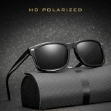 2 PCS Men Polarized Sunglasses Night Vision Anti-glare Driving Sun Glasses Goggles (Matte Brown Frame Brown Lens)