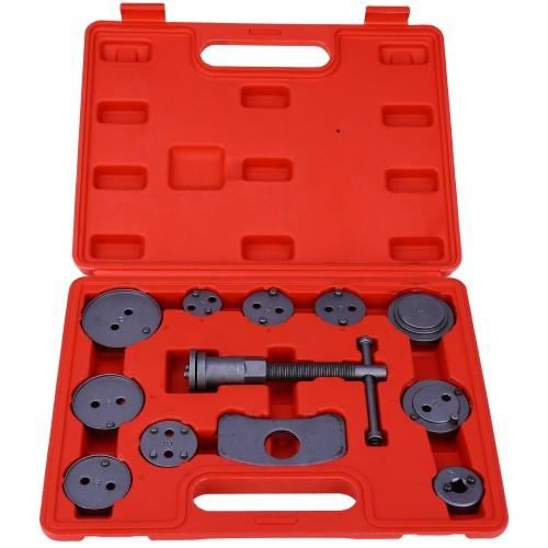 Universal Auto Car Precision Disc Brake Caliper Wind Back Tool Kit Brake Pad Brake Pump Brake Piston Car Repair Tool Kit (12 PCS Brake Air Pump)