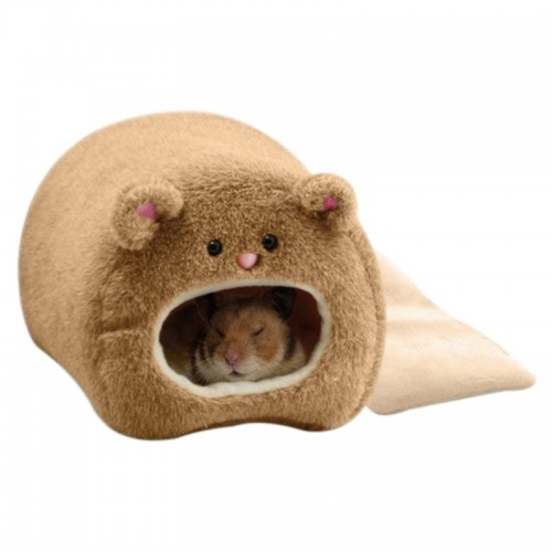 Cute Small Animal Cages Pet Rabbit Hamster House Bed Rat Qquirrel Guinea Winter Warm Hanging Cage Hamster Nest (Dark Grey)