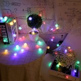 20 LEDs Solar Powered Pine Cone Outdoor Energy Saving Holiday Wedding Decoration String Light Garden Landscape Lamp (Colorful Light)