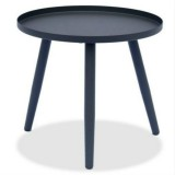 Nordic Round Small Coffee Table Office Display Simple Modern Living Room Sofa Balcony Creative Side Table (Black)