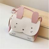 Girls PU Coin Purse Bag Rabbit Shoulder Bag (Pink)