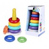 Music Rainbow Stacking Ring Rainbow Tower Tumbler Children Stacking Rings