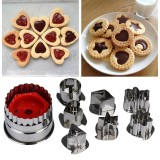 8 PCS Cookie Cutter Tools 3D Scenario Stainless Steel Cookie Cutter Set Gingerbread Cake Mould Fondant Cutter (Silver)