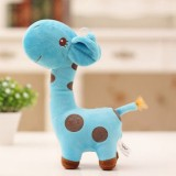 Kawaii Plush Children Giraffe Kids Sofa Children Baby Girls Boys Plush Giraffe Toys, Color: Blue, Size: Height35cm