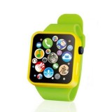 Kids Early Education Toy Wrist Watch 3D Touch Screen Music Smart Teaching Children Birthday Gifts (Green)