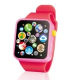 Kids Early Education Toy Wrist Watch 3D Touch Screen Music Smart Teaching Children Birthday Gifts (Red)