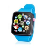 Kids Early Education Toy Wrist Watch 3D Touch Screen Music Smart Teaching Children Birthday Gifts (Blue)