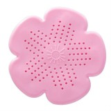 2 PCS Flower Shape Bathroom Floor Drain Hair Stopper Filter Sink Strainer (Pink)