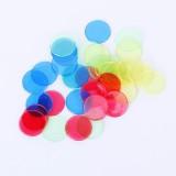 100 PCS Transparent Plastic Casino Poker Chips Bingo Tag Token Children Toys Gifts (Random Color)