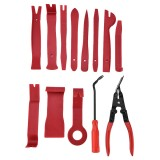 13 PCS Car Audio Disassembly Modification Tool Interior Door Panel Disassembly Screwdriver Installation Soundproof Repair Tool (Red)