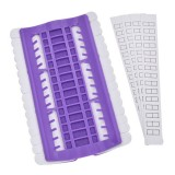 Cross Stitch Embroidery Special Tool 30 Hole Cable Arranger Threader Needle Box Pin Winder (Purple)