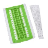 Cross Stitch Embroidery Special Tool 30 Hole Cable Arranger Threader Needle Box Pin Winder (Green)