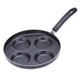 Multifunction Nonstick Frying Pan Aluminium Alloy 4 Units Cookware Fry Egg Pan Pancake Steak Pan for Gas Cooker (10 Inch Round)