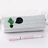 Print Cactus Octagonal Version Small Fresh Canvas Cosmetic Storage Bag Pencil Case (1 Cactus)