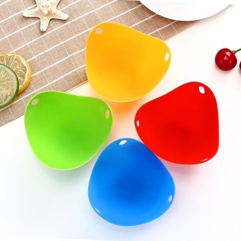 3 PCS Silicone Egg Cooker Egg Bracket Kitchen Tools Pancake Cookware Bakeware Steam Eggs Plate Tray 4 pieces of steamed egg
