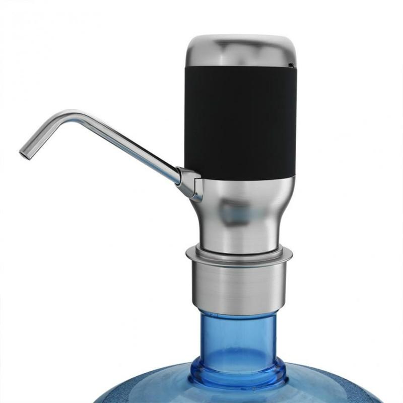 Wireless Electric Automatic Water Bottle Pump Smart Dispenser USB Rechargeable Electric Battery Drinking Water Bottle Pump (Black)