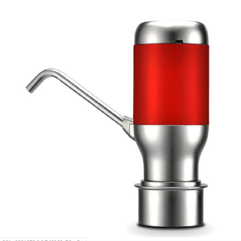 Wireless Electric Automatic Water Bottle Pump Smart Dispenser USB Rechargeable Electric Battery Drinking Water Bottle Pump (Red)