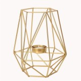 Creative Modern Minimalist Geometric Wrought Iron Gold Candle Holder Ornaments Home Decorations Romantic Candlelight Ornaments, Size: High Section