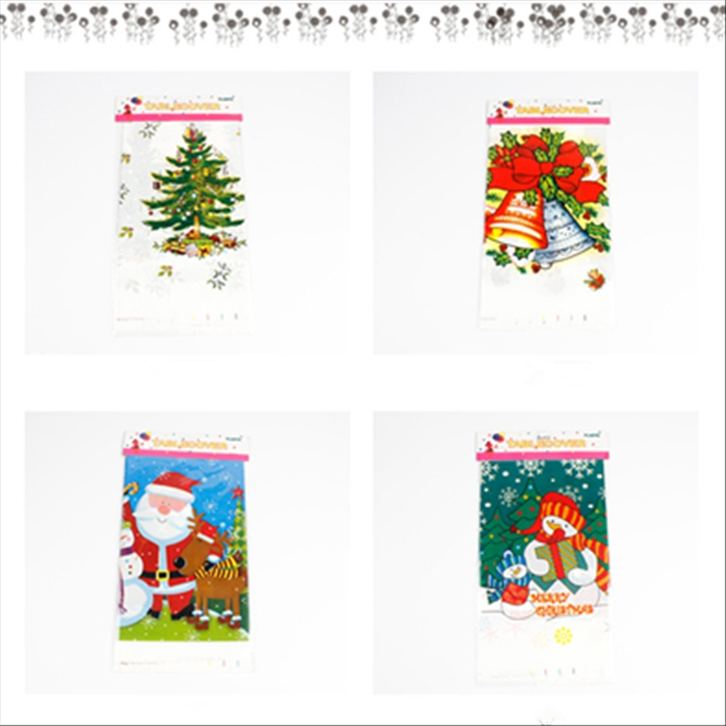 2 PCS Merry Christmas Rectangular Tablecloth Kitchen Dining Table Covers Decoration (Santa Claus Head)