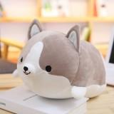 30-60cm Cute Corgi Dog Plush Toy Lovely Christmas Gift for Kids Stuffed Soft Animal Cartoon Pillow Valentine Present, Height: 35CM (Gray)