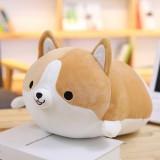 30-60cm Cute Corgi Dog Plush Toy Lovely Christmas Gift for Kids Stuffed Soft Animal Cartoon Pillow Valentine Present, Height: 35CM (Brown)