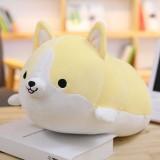30-60cm Cute Corgi Dog Plush Toy Lovely Christmas Gift for Kids Stuffed Soft Animal Cartoon Pillow Valentine Present, Height: 50CM (YELLOW)