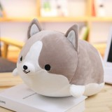 30-60cm Cute Corgi Dog Plush Toy Lovely Christmas Gift for Kids Stuffed Soft Animal Cartoon Pillow Valentine Present, Height: 60CM (Gray)