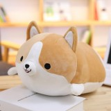30-60cm Cute Corgi Dog Plush Toy Lovely Christmas Gift for Kids Stuffed Soft Animal Cartoon Pillow Valentine Present, Height: 60CM (Brown)