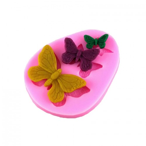 2 PCS Simulation Butterfly Fondant Silicone Mould Handmade Soap DIY Cake Decorating Chocolate Lace Baking Tools