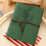 PU Leather Vintage Antique Kraft Paper Photo Albums (Green)