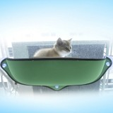 2 PCS Cat Window Hammock for Pet Removable Cat Window Bed Hammock Cat Hammock Window Bed (Green)