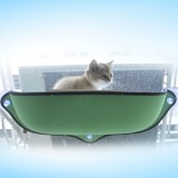 2 PCS Cat Window Hammock for Pet Removable Cat Window Bed Hammock Cat Hammock Window Bed (Green)