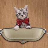 2 PCS Cat Window Hammock for Pet Removable Cat Window Bed Hammock Cat Hammock Window Bed (Beige)
