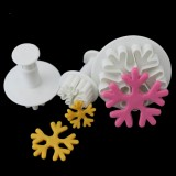 6 PCS Snowflake Spring Mould Fondant Cake Tool Biscuit Embossing Printing Mould DIY Baking Tools
