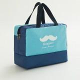 Fashion Men And Women Travel Waterproof Storage Bag Oxford Cloth Travel Bag Swimming Bag Beach Bag (Blue Beard)