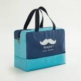 Fashion Men And Women Travel Waterproof Storage Bag Oxford Cloth Travel Bag Swimming Bag Beach Bag (Navy Blue Beard)