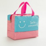 Fashion Men And Women Travel Waterproof Storage Bag Oxford Cloth Travel Bag Swimming Bag Beach Bag (Blue Smiley Face)