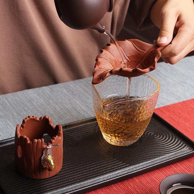 Creative Purple Sand Tea Leak Tea Strainer Tea Ceremony Accessories (PJ180730-1)