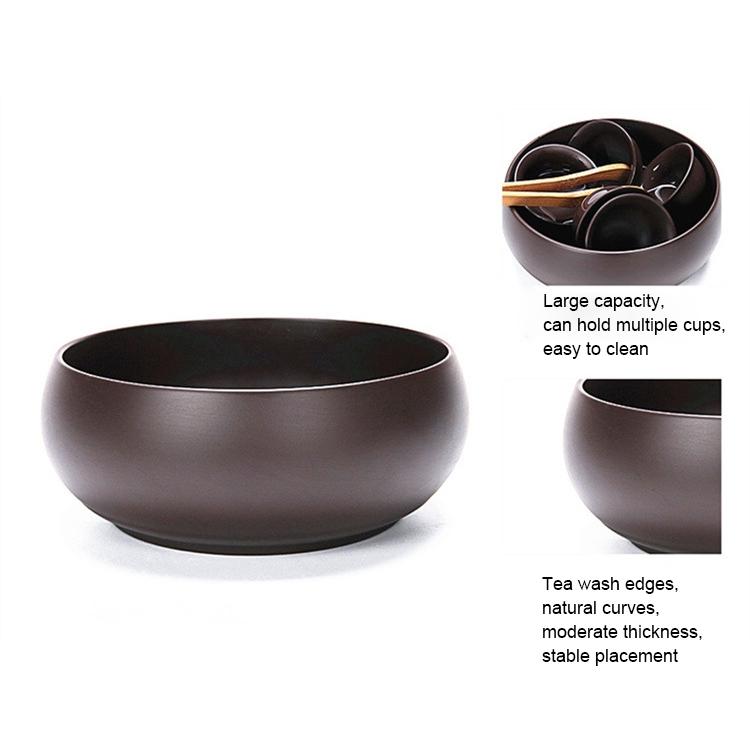 Purple Sand Tea Wash Large Ore Purple Mud Kongfu Tea Set Cup Tea Accessories (Black)